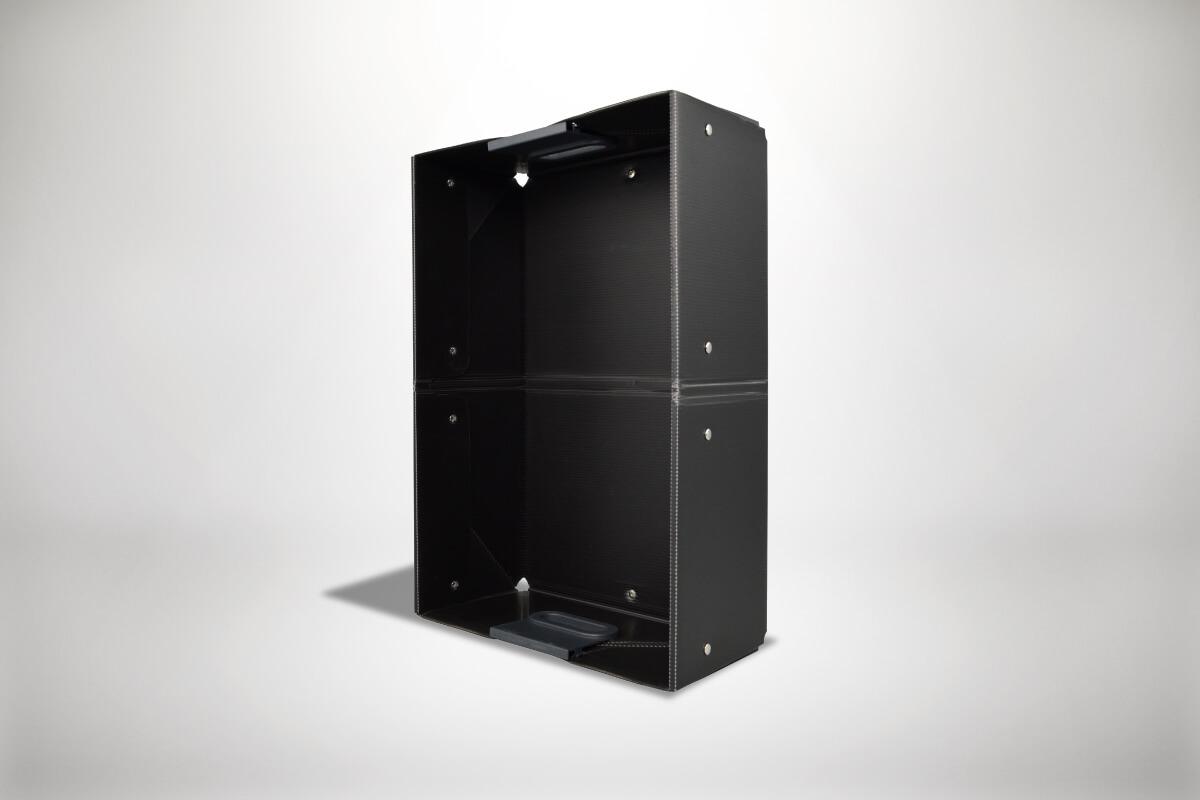 Schwarze Quickboxx Faltbox Klappbox Transportbox Tragebox