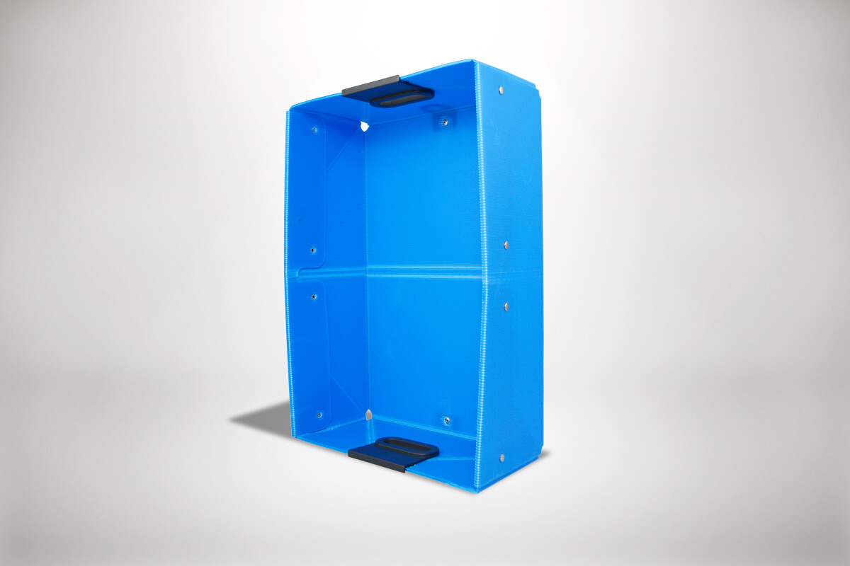 Blaue Quickboxx Faltbox Klappbox Transportbox Tragebox