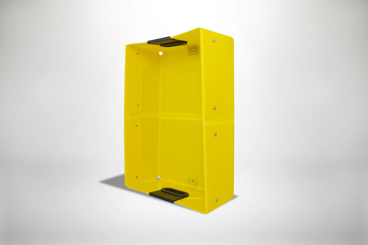 Gelbe Quickboxx Faltbox Klappbox Transportbox Tragebox